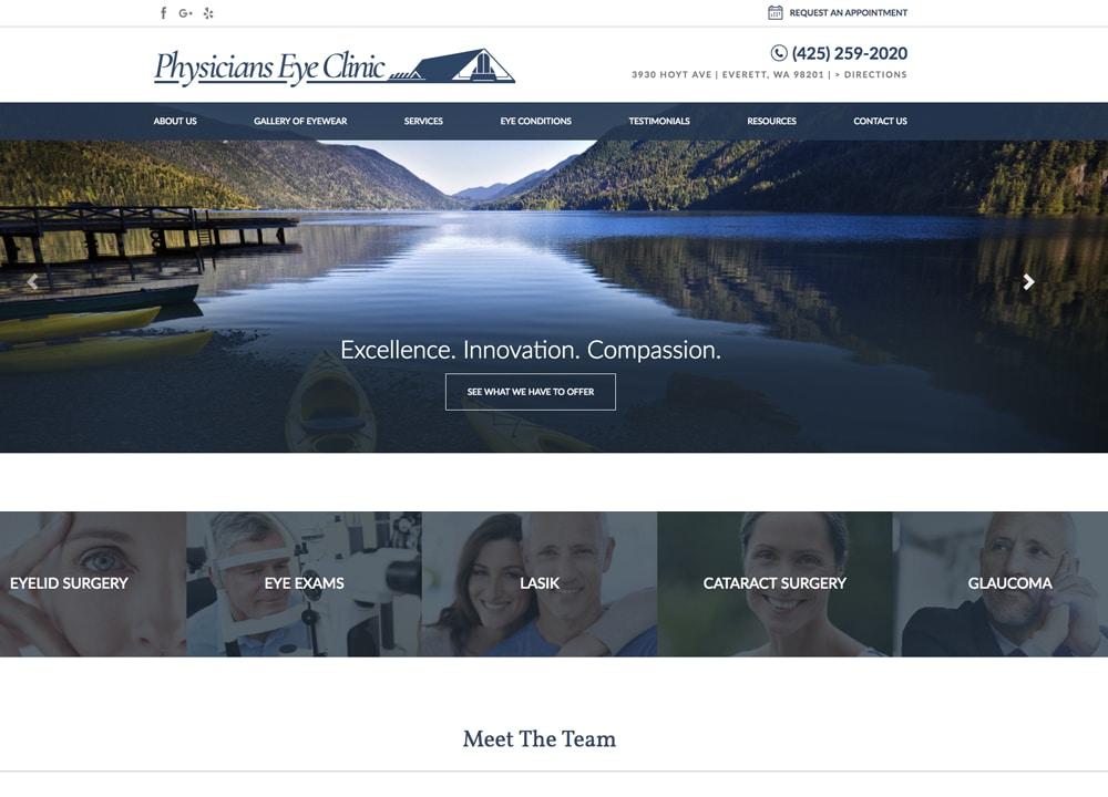 Physicians Eye Clinic | | Advice Media Ophthalmology Website Design Portfolio